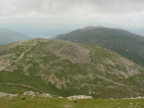 Looking towards Allen Crags with Glaramara in the distance