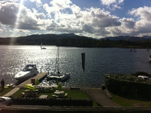 The view from the Youth Hostel at Ambleside