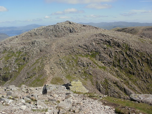 Broad Crag in the middle as I descend from Scafell Pike