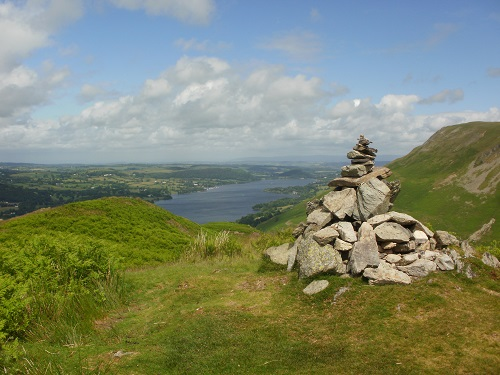 Ullswater, taken from a cairn on the North side of Steel Knotts