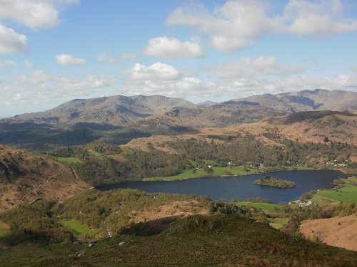 Looking over Grasmere water from Nab Scar