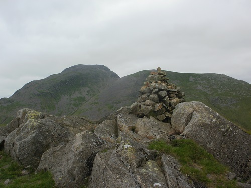 Looking over towards Great Gable from Seathwaite Fell summit