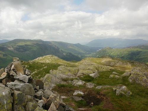 The summit of Rosthwaite Fell, my last hill of the day