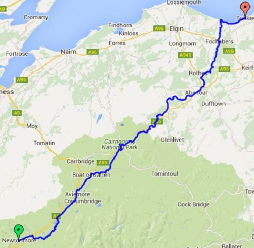 speyside way map image collections