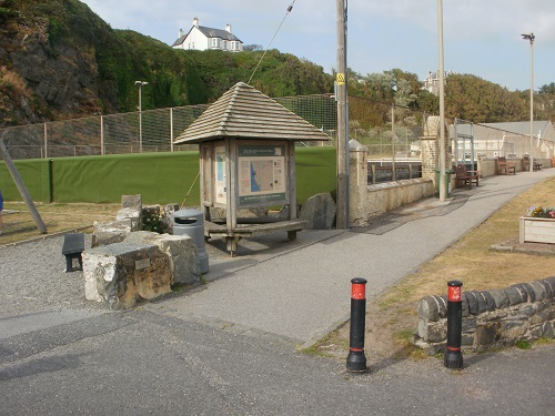 The start of the Southern Upland Way at Portpatrick harbour