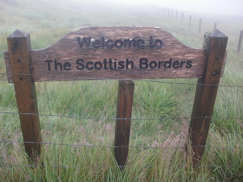 Today I would cross into the Scottish Borders