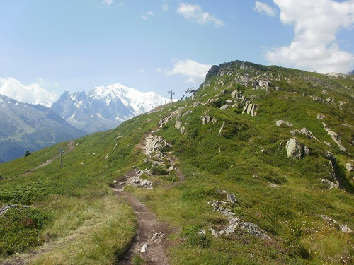 Nearing the summit of the Aiguillette des Posettes