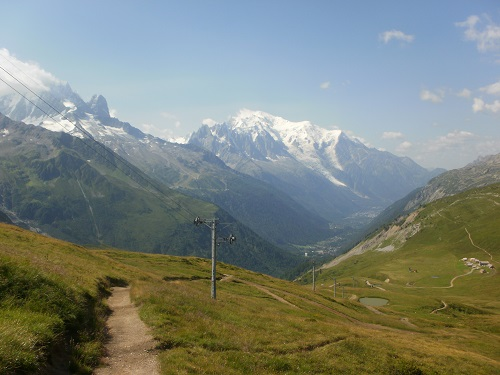 The view of Mont Blanc from near Col des Posettes
